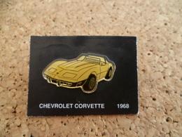 Pin's ** Automobile  Chevrolet Corvette 1968 ** Voiture, Auto - Corvette