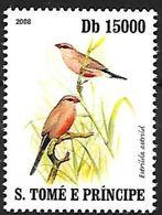 Sao Tomé E Principe - 2008 - MNH - Common Waxbill ( Estrilda Astrild - Zangvogels