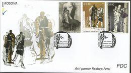 KOS 2016-03 Mi 332-4 ARTI REXHEP FERRI, KOSOVO, FDC - Kosovo