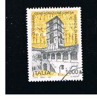 ITALIA REPUBBLICA  - UNIF. 2250  -   1996  ABBAZIA DI FARFA              -            USATO - 6. 1946-.. Repubblica