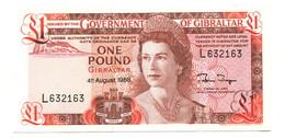 1988 Gibraltar UNC 1 Pound Banknote - Gibraltar