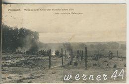 Pillkallen V.1918 Heldengräber Hinter Der Kurschat`schen Villa -- Links Sind Russische Gefangene  (13270) - Ostpreussen