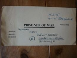 Kriegsgefangenenpost PWE 409 Nürnberg-Langwasser Vom 1.5.46 - Covers & Documents