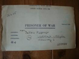 Kriegsgefangenenpost PWE 409 Nürnberg-Langwasser Vom 3.4.46 - Covers & Documents