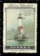 German Poster Stamps, Reklamemarke, Cinderellas, Lighthouse, Leuchtturm, Chocolate, - Lighthouses