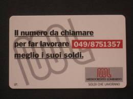 ITALIA SIP - 3293 C&C 200 GOLDEN - PRIVATE PUBBLICHE - MEDIOCREDITO LOMBARDO 049 NUMERICO  - NUOVA - Private-Omaggi