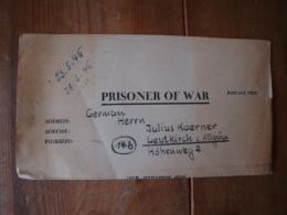 Kriegsgefangenenpost PWE 409 Nürnberg-Langwasser Vom 8.5.46 - Covers & Documents