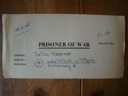 Kriegsgefangenenpost PWE 409 Nürnberg-Langwasser Vom 19.3.46 - Covers & Documents