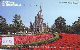 Télécarte Japon - DISNEY - TOKYO DISNEYLAND / 110-011 - Château - Castle (5826) Japan Phonecard * Telefonkarte - Disney
