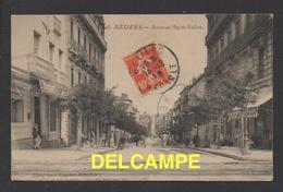 DF / 34 HERAULT / BÉZIERS / AVENUE SAINT-SAËNS / CIRCULÉE EN 1910 - Beziers