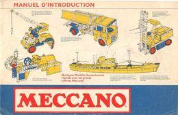 3-NOTICES Vers 1955-MECCANO-MANUEL D INTRO(8p)-BOITE N°2 (10p)BOITE N°4(16p)-BE-Tres Peu Utilisé - Meccano