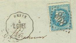 ARDENNES 08 REVIN Convoyeur Station C GIVET GC 898 (Charleville) Sur N° 29 Au Verso TAD Verso 04/11/1869 TTB - 1849-1876: Classic Period