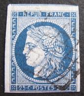 Lot FD/569 - CERES N°4 - GRILLE NOIRE - Cote : 65,00 € - 1849-1850 Ceres
