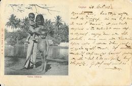 Sri Lanka (Ceylon, Ceylan) - Native Children 1903 - Carte Dos Simple A.W.A. Plâté & Co. - Sri Lanka (Ceylon)