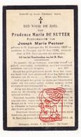 DP Prudence M. De Sutter ° Sint-Laureins 1868 † Drongen Gent 1926 X Joseph M. Pectoor - Santini