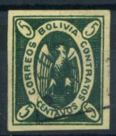 Bolivia 1867 Mi. 1 Usato 100% Condor Nell'ovale 5 C - Bolivia