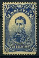 Bolivia 1897 Mi. 51 Nuovo * 100% Simon Bolivar, 1 B - Bolivia