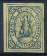 Bolivia 1867 Mi. 4 Nuovo * 100% Stemma, 100 C - Bolivia