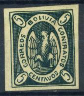 Bolivia 1867 Mi. 1 Nuovo * 100% Stemma, Condor. - Bolivia