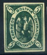 Bolivia 1867 Mi. 1 Nuovo * 100% Condor 5 C. - Bolivia