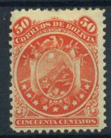 Bolivia 1890 Mi. 31 Nuovo * 80% Stemma, 9 Stelle, 50 C. - Bolivia