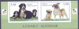 2018. Tajikistan, Lunar Calendar, The Year Of Dog, 2v  IMPERFORATED, Mint/** - Tadschikistan