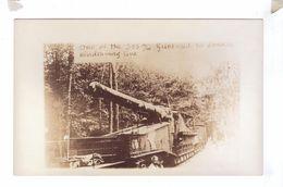 GUERRE 14 18 Carte Photo Rppc Artillery Gun Canon Sur Train 305 - Materiale