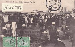 SOUVENIR De PORT-SAÏD-VUE Du MARCHE-ECRITE POR-SAÏD Vers BARBEZIUX-TIMBRES EGYPTE-4 Cachets,17/11/1913- - Port-Saïd
