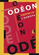 SAISON 93-94 ODEON THEATRE DE L'EUROPE. DIRECTION LLUIS PASQUAL. CARTCOM-FRANCE-TBE-BLEUP - Pubblicitari