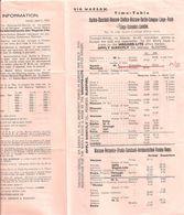 TIME TABLE HORAIRES WAGON LITS TRAIN HARBIN MOSCOW BERLIN PARIS LONDON 1926 CHINE EUROPE ASIE RUSSIE - Monde