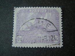 FIUME - 1919, PLEBISCITO FONDAZ. STUDIO, Sass. N. 68, Cent. 80.. Usato  TTB, OCCASIONE - 8. Occupazione 1a Guerra