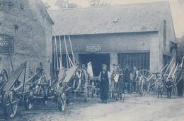 MACHINES AGRICOLES GAUTHIER ET FILS, MARECHALLERIE A MOUSSY PAR PREMERY  (NIEVRE) - SUPERBE CARTE -BLEUTEE- PRESENTATION - Autres Communes