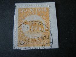 FIUME - 1919, PLEBISCITO FONDAZ. STUDIO, Sass. N. 65, Cent. 20. Usato  TTB, OCCASIONE - 8. Occupazione 1a Guerra