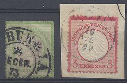 ALLEMAGNE - 1872 - N° 14 Et 9 - Oblitérés -  Cote 38 € - Allemagne