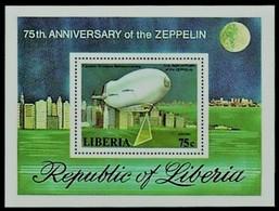 Liberia 1978 Yvertn° Bloc 88 *** MNH Cote 22 FF Zeppelin - Liberia