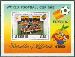 Liberia 1981 Yvertn° Bloc 95 *** MNH Cote 25 FF Sport Football Soccer - Liberia