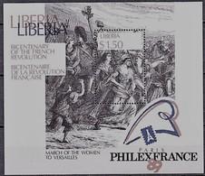Liberia 1989 Yvertn° Bloc 120 *** MNH Cote 40 FF La Révolution Française - Liberia
