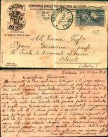 8205a)cartolina -CON PUBBLICITA' MACCHINE PER CUCIRE SINGER CON 30 C.VIRGILIO DA CATANIA X RAGUSA 24-11-30 - 1900-44 Vittorio Emanuele III