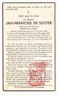 DP Jan-Francies De Sutter ° Sint-Laureins 1864 † 1941 X Seraphina Bral - Santini