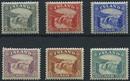 ISLAND 150-55 *, 1931/2, Gullfoss-Wasserfall, Falzrest, Prachtsatz - Island