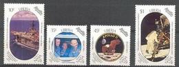 Liberia 1989 Yvertn° 1128-1131 *** MNH Cote 45 FF L' Espace - Liberia