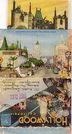 Carte-lettre De 10 Vues De HOLLYWOOD, Voyagée En 1953 (cl.bleu) - Etats-Unis