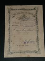 Vieux Papier, Distribution Des Prix, 2e Prix D'excellence, Ecole De Garçons De Montrouge 1907 - Diplômes & Bulletins Scolaires