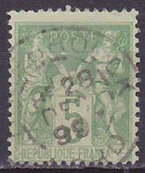 Timbre Oblitéré N° 106(Yvert) France 1898 - Sage (Type II) - 1876-1898 Sage (Type II)