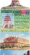 Carte-lettre De 16 Vues De TIJUANA, Mexique,  Voyagée En 1953 (cl.bleu) - Mexique