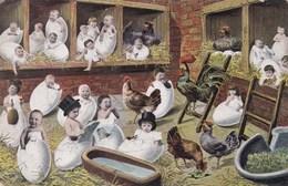 Baby, Bébé, Humour, Fantasy, Fantasie, Babies Coming Out Of Eggs (pk42594) - Cartes Humoristiques