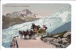 Lot 3 Cpa Voiture à Chevaux  Suisse --Alpenpost - Furkastrasse Mi Rhonegletscher - Die Schölenen Am Gotthard - Cartes Postales