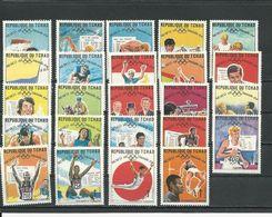 TCHAD  Scott 181-204 Yvert 183-206 (24) ** Cote 8,00$ 1969 - Tchad (1960-...)