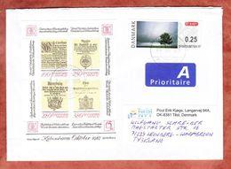 Brief, MiF Block Hafnia U.a., Oestjylland Nach Leonberg 2015 (45994) - Cartas