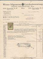 2 Factures De Frais D'obsèques Du 18 Mars 1930 - Austria